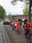 Optocht versierde fietsen